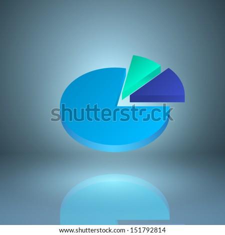 Icon pie chart. EPS10 vector. - stock vector