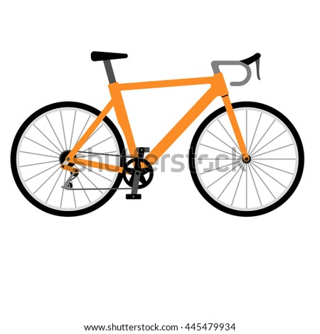 Icon road racing bike isolated on white background