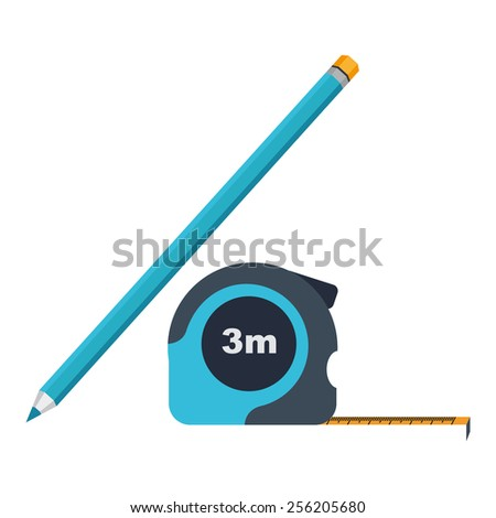 Icon roulette and pencil - stock vector