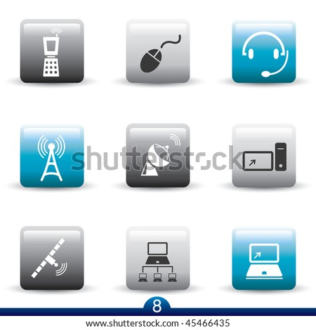 Icon series 8 - communications - stock vector