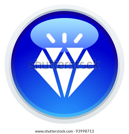 Icon Series - Diamond - stock vector