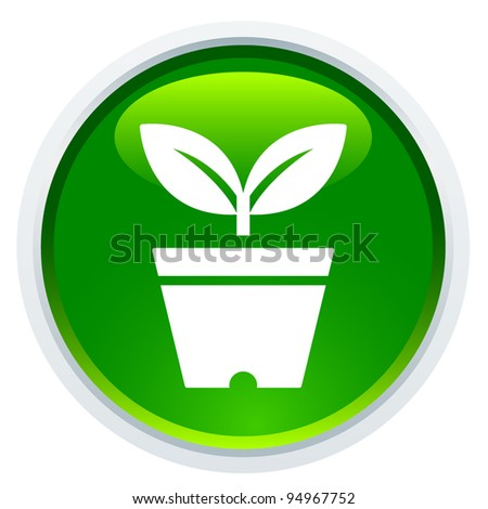 Icon Series - Green Plant - stock vector