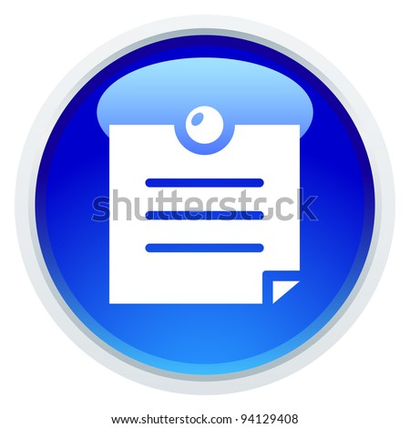 Icon Series - Memo - stock vector
