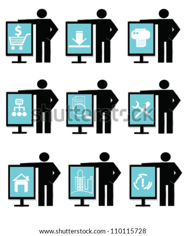Icon set ,business and marketing,Vector - stock vector