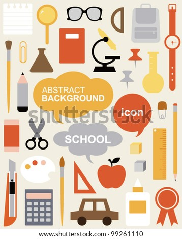 Icon Set - Education - stock vector