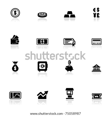 Icon set  Financial	 - stock vector