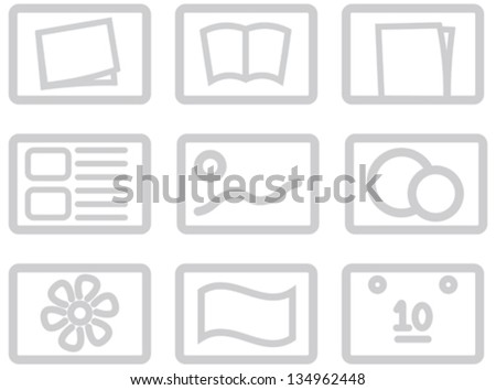 icon set for categories of goods for on-line shops, internet directories and indexes, for web design and high quality print and any other creative works - stock vector