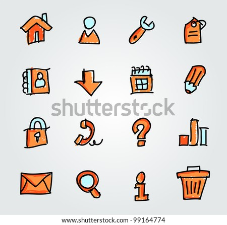 Icon set for web site - stock vector
