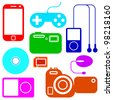 Icon set of electronic gadgets - stock vector