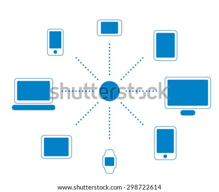 Icon set of screen devices