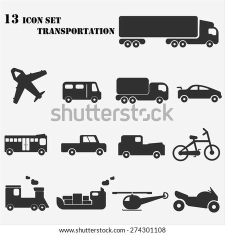 Icon set transportation - stock vector