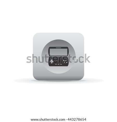 icon sign theme - white glossy button vector art
