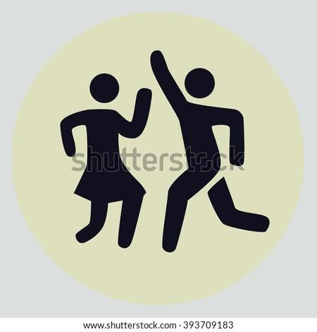 Icon Silhouette Dancing Couple Icon Dance Stock Photo Photo Vector