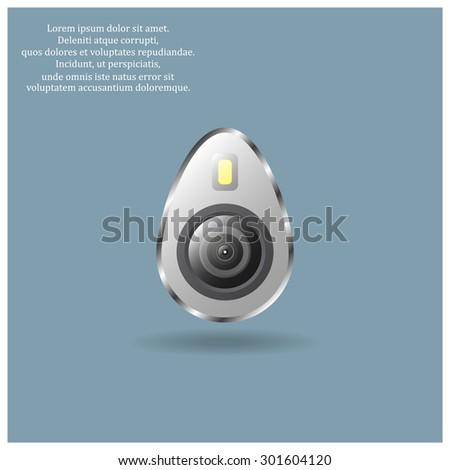 icon smartphone camera and flash. icon. vector design - stock vector
