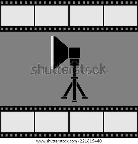 Icon soft box on a film background. Vector illustration. - stock vector