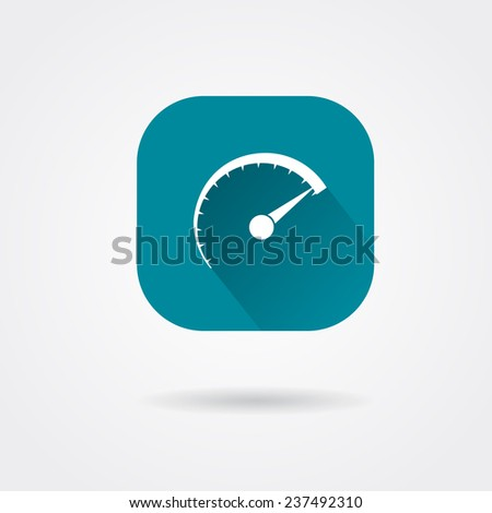 icon speed - stock vector