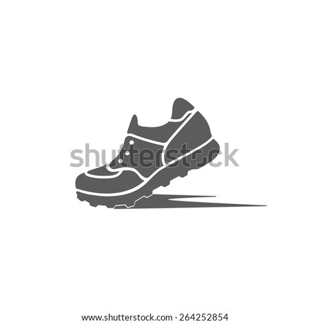 icon sports shoes of the dynamics - stock vector
