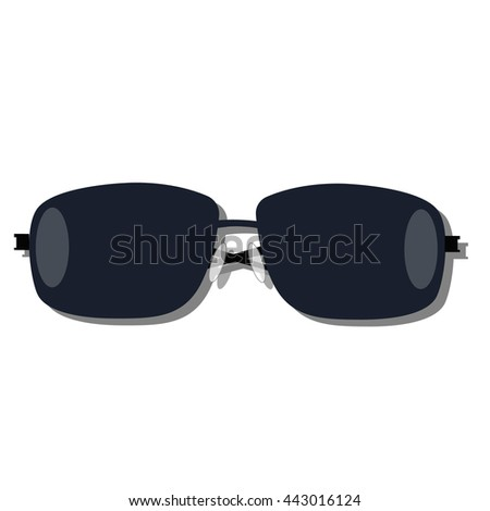 icon sunglasses on a white background. The template for store or sale. Vector illustration