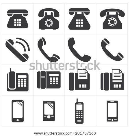 icon telephone classic to smartphone - stock vector