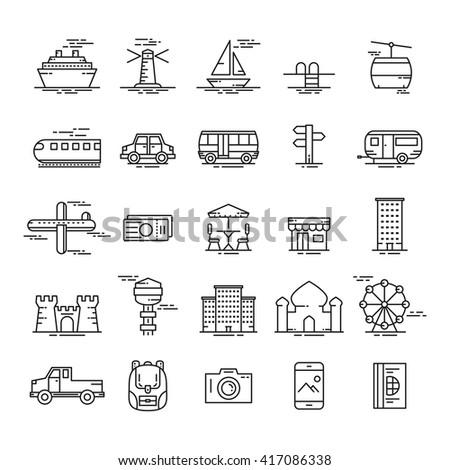 icon travel. icon tourism. vector illustration - stock vector