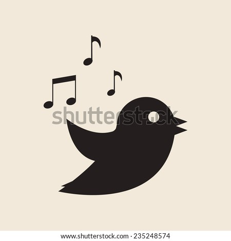 icon twitter bird vector illustration
