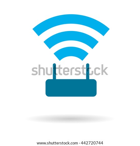 icon Wifi router  - stock vector