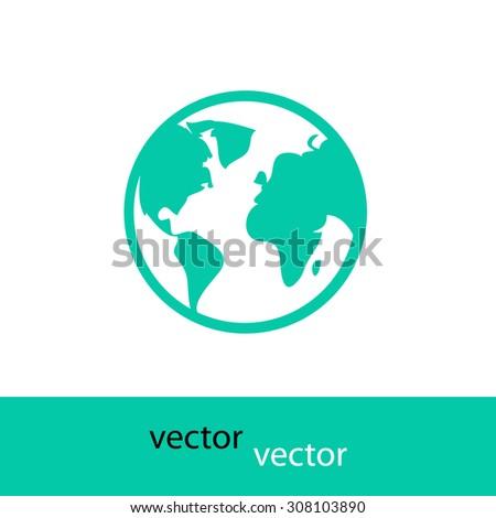 icon world - stock vector