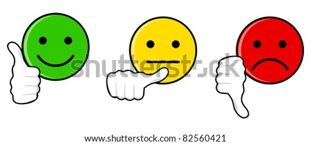 Iconic illustration of satisfaction level - stock vector