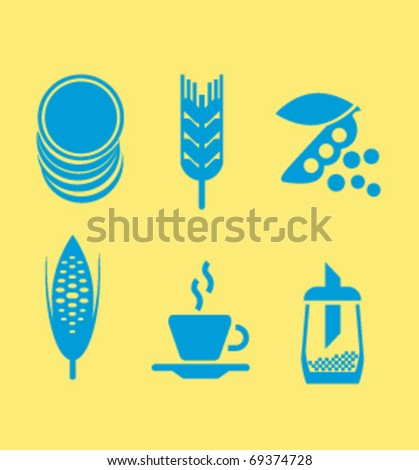icons - stock vector
