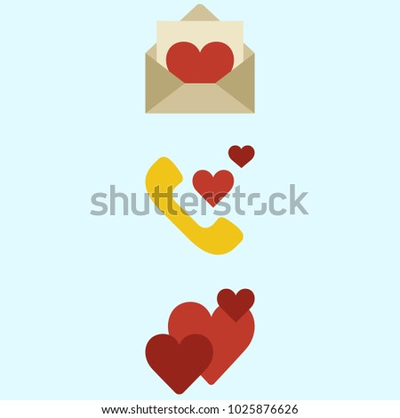 Icons about romance lifestyle love letter stock vector hd royalty icons about romance lifestyle with love letter phone call and hearts altavistaventures Images