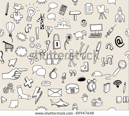 icons draft drawings black and whit - stock vector