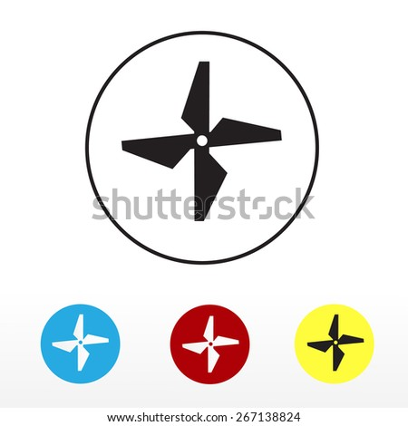 Icons Drone Propeller Vector Illustration