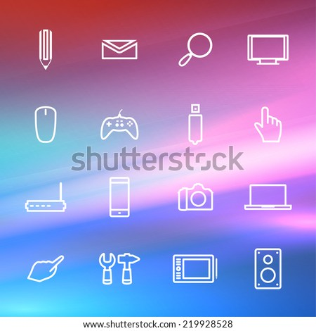 Icons electronic devices on vector background Eps10. - stock vector