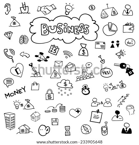 Icons for business. - stock vector