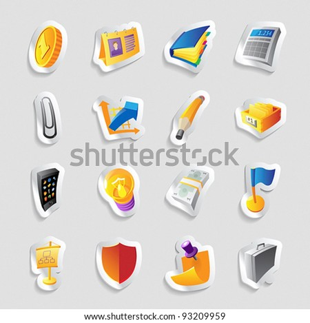 Icons for business and finance. Vector illustration. - stock vector