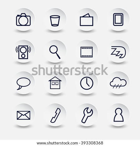 icons for Smartphone on white blue style