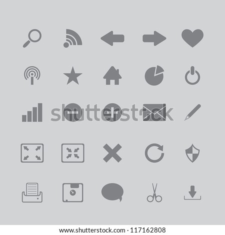 icons for the browser program - stock vector