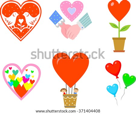 Icons for Valentine`s Day