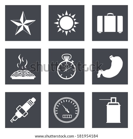 Icons for Web Design and Mobile Applications set 29. Vector illustration. - stock vector