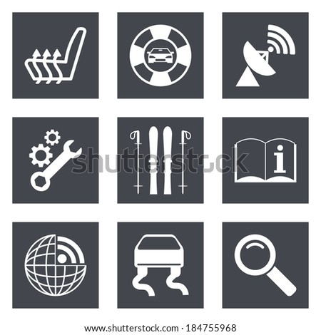 Icons for Web Design and Mobile Applications set 39. Vector illustration. - stock vector