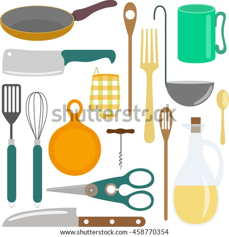 icons kitchen supplies isolated on white background. Interior Design Ideas. Home Design Ideas