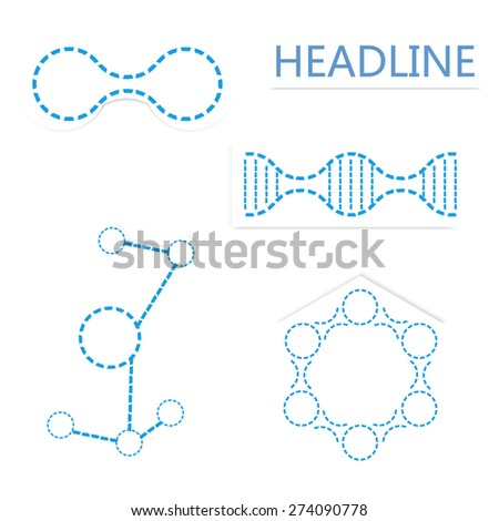 Icons molecule, Isolated On White - Vector Illustration, Graphic Design Useful For Your Design, dna. - stock vector