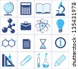 icons of a science and education. vector set. eps8 - stock vector