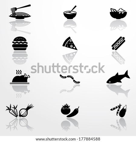 Icons of food - stock vector