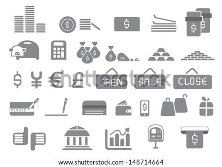 icons of money - stock vector