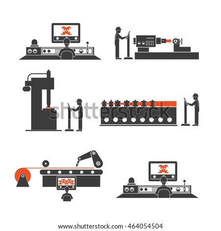 icons of technological processes of production