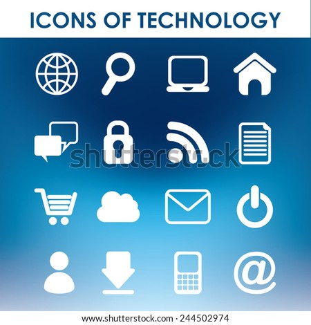 icons of technology design, vector illustration eps10 graphic - stock vector