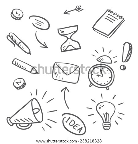 Icons on a white surface vector - stock vector