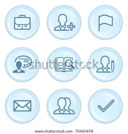 Icons on blue button 1
