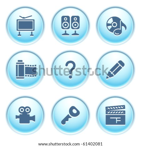 Icons on blue buttons 28